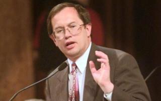 Sen Ron Withem speaks during the legislative session in 1997. Journal Star file photo